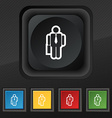 businessman icon symbol Set of five colorful vector image