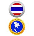 button as a symbol THAILAND vector image