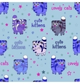 Cute Cats Seamless Background vector image