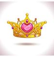 Fancy golden princess crown vector image