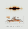 graphic musical equalizer sound waves on a light vector image