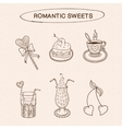Heart shaped sweets collection vector image
