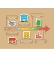 Infographic timeline elements vector image