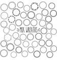 mix wreath vector image