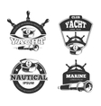 Nautical signs labels and badges vector image
