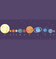planets solar system in order vector image