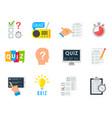 quiz game icon vector image