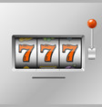 realistic slot machine with handle one arm vector image