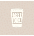 Take coffee with you Cup to go vector image