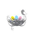 three birds baby vector image