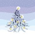 Christmas tree antlers vector image