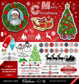 Christmas and New Year decorations vector image vector image