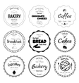 Set of 9 circle bakery labels vector image