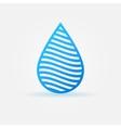 Blue water drop icon vector image