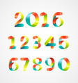 Set of Colorful Number 0-9 vector image
