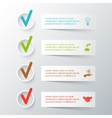 stripes for infographic vector image