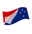 New Zealand flag vector image