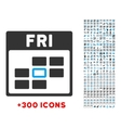 Friday Flat Icon vector image