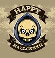Reaper Head Halloween Badge vector image
