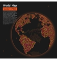 Dotted World Map Background Night Earth Globe vector image