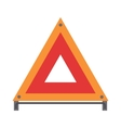 Red warning triangle emergency road sign flat vector image