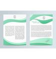 Business brochure Brochure Flyer design Easy to vector image vector image
