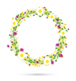 purple round flowers vector image