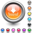 Download round button vector image vector image