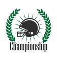 American football championship retro badge design vector image