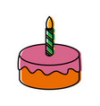 birthday cake isolated vector image
