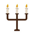 chandelier with lit candles icon image vector image