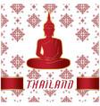 thailand buddha statue thai design white backgroun vector image