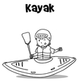 Vetcor art of kayak hand draw vector image