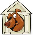 dog in doghouse vector image vector image