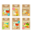 Baking Banners And Cards vector image