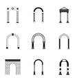 Arch icons set simple style vector image