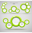 Set of green circle banners vector image vector image