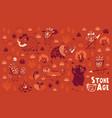 stone age set vector image