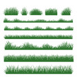 grass silhouette borders set on background vector image