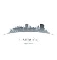 Limerick Ireland city skyline silhouette vector image vector image