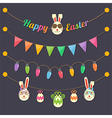 Easter party light bulbs vector image