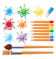art tools set vector image vector image