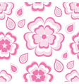 Seamless pattern with pink flowers sakura vector image vector image