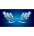 Theatre Show Spotlights with lights ans stars vector image vector image