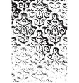 Distress Arab Pattern vector image