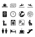 Airport and traveling icons vector image