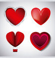 love hearts styles different for valentines day vector image