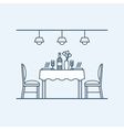 Modern interior dining room with table and chairs vector image