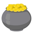 Pot of gold icon cartoon style vector image