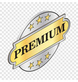 round label premium isometric icon vector image